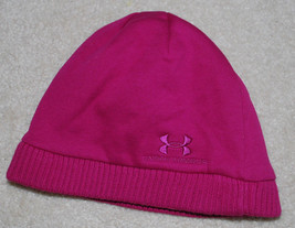 Under Armour Womens Beanie Hat OSFA Storm Lined BTS Winter Hats Pink Gra... - $14.80