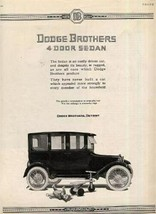 Original Dodge Brothers 4 Door Sedan  Advertisement - $11.88