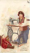 Singer Sewing Italy Angona 1892 Victorian Trade Card - $7.00