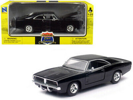 1969 Dodge Charger R/T Black 1/25 Diecast Model Car by New Ray - $44.35
