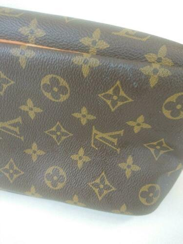 Auth Louis Vuitton Monogram Shoulder Bag Brown Leather PVC Logo Medium LVB0212