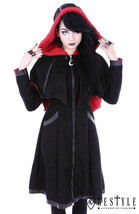 Restyle Bat Gothic Goth Punk Emo Rocker Detachable Wings Winter Coat Jac... - $158.99