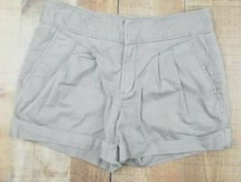 Calvin Klein Tan Pleated Front Cuffed Jean Shorts Size 6 - $15.79