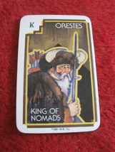 1981 DragonMaster Board game playing card: Orestes, King of Nomads - $1.00