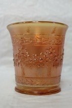 Vintage Fenton Orange Tree Marigold Carnival Glass 6 oz Cup Mug Hex Hand... - $17.99