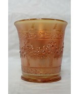 Vintage Fenton Orange Tree Marigold Carnival Glass 6 oz Cup Mug Hex Hand... - $17.99