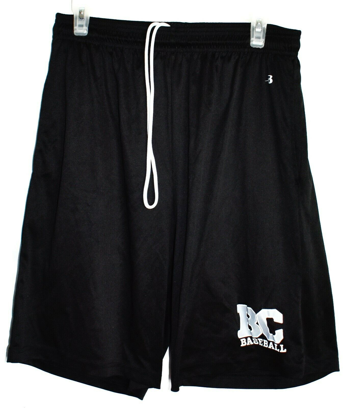 Badger Sport 4119 Men's B-Core BC Baseball Black Pocketed Athletic Shorts Size L