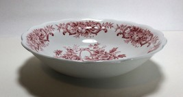 """Ridgway Staffordshire Pink Red Old English Bouquet Cereal Bowl 6 3/8"""" - $9.88"""