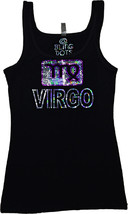 Virgo Bling Shirt Sequins Tank top Zodiac signs no rhinestones glitter tee - $19.99+