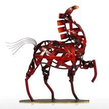 Horse Animal Metal Figurine Modern Vintage Home Decoration Weaving Craft... - $38.69