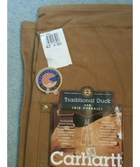 Carhartt Traditional Duck 6FB Bib Overall Unlined 42x32 - Made in the USA - $59.35