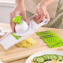 7 in 1 Plastic Vegetable Fruit Slicers Cutter Adjustable Stainless Steel... - $12.79