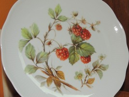 "Vohenstrauss Bavaria Plate 7.5"" Red Raspberries Johann Setlmann Germany - $14.99"
