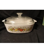 Corning Ware 2 qt A 2 B Spice of Life Casserole with Glass Lid - $12.49