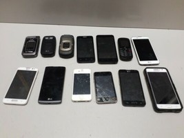 Lot Of 13 LG Samsung Apple iPhone iPod Android Phones & More for Parts or Repair - $98.99
