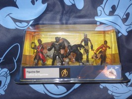 Authentic Black Panther Disney Store Playset 6 Piece Figure Cake Toppers... - $19.79