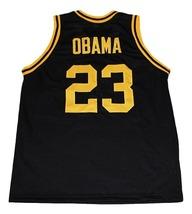 Barack Obama #23 Punahou High School New Men Basketball Jersey Black Any Size image 2