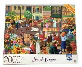 Joseph Burgess 2000 Piece Puzzle Street Vendor Morning Milton Bradley Premium - $27.69