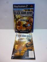 Playstation 2 Delta Force Black Hawk Down Team Sabre with Net Play Ubisoft - $10.65