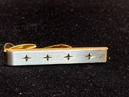 """Vintage Hickok USA 1 1/2"""" Two Tone Tie Tack With Gift Box (1291) - $7.50"""