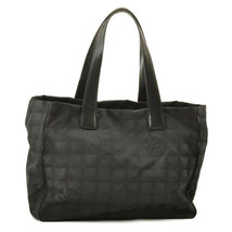 CHANEL New Travel Line Canvas Hand Bag Black Auth 10655 - $320.00