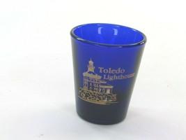 Cobalt Blue Toledo Lighthouse Shotglass Shot Glass Glass 34433 - $13.53