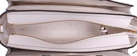 Tory Burch Robinson Embroidered Small Zip Tote in New Ivory Multi image 4