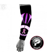 Breast Cancer Aweness Compression Arm Sleeve Pink Ribbon Hot Pink Footba... - $5.99