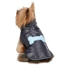 """Casual Canine Snow Puff Dog Coat Puppy Vest Jacket Navy Blue """"Small / Me... - $12.19"""