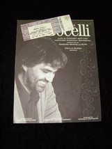 Andrea Bocelli Program & Ticket National Car Rental Center 3/22/01 - $24.99