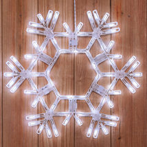 "LED Cool White Lighted Christmas Snowflake Folding Outdoor Decoration 20"" - $49.99"