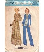 Vintage SIMPLICITY Pattern 7227 size 22 1/2 & 24 1/2 - $25.00