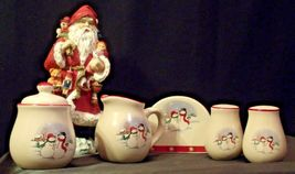 anta and 5 Piece Winter Wishes Table Set AA19-CD0052 Vintage image 7