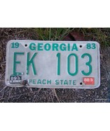 1983 GEORGIA LICENSE TAG PLATE - PEACH STATE- E... - $15.00