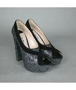 K-MM11135 New Miu Miu Glitter Heels Ladies Shoes Sexy Party Size 37 US 7 - $339.68