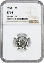1951 10c NGC PR 66 - Roosevelt Dime - $72.75
