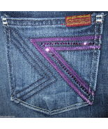 NWT 7 For All Mankind Purple Crystal Flynt Boot... - $129.99