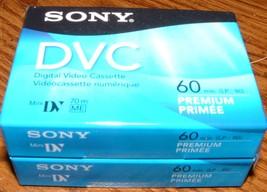 Sony DVC 2 Pack 60 min./  Premium Digital Video Cassette - $6.95