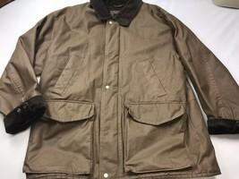 Original Structure Blue Workwear XL Heavy Duty Brown Jacket Zipper Button - $54.45