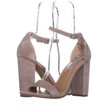 Steve Madden Carrson Ankle Strap Dress Sandals 054, Taupe Suede, 10 US - $23.99