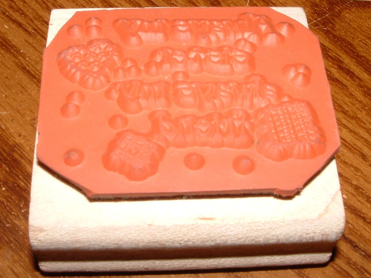 """RUBBER STAMP """" ALWAYS MY SISTER, ALWAYS MY FRIEND"""" MOUNTED"""