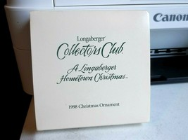 Longaberger Collectors Club Hometown Christmas Ornament 1998 - $9.61