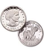 1981-S $1 Gem Proof Susan B. Anthony Dollar  - $5.98