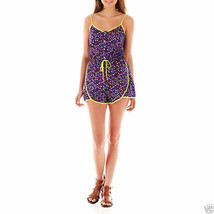 Olsenboye Sleeveless Floral Button Front Print Romper Size M, XL Msrp $4... - $11.99