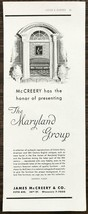 1937 James McCreery & Co Seventh Floor Repro Furniture Print Ad Maryland... - $10.89