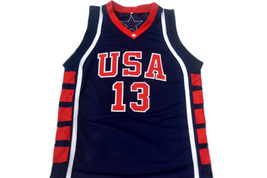 Tim Duncan #13 Team USA Men Basketball Jersey Navy Blue Any Size image 4