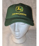 John Deere LP16930 Green Adjustable BaseBall Cap With Leaping Deer Logo - $14.95