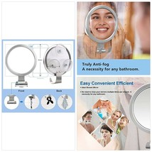 Quntis Fogless Shower Mirror Anti Fog Shower Shaving Makeup Mirror with ... - €26,61 EUR