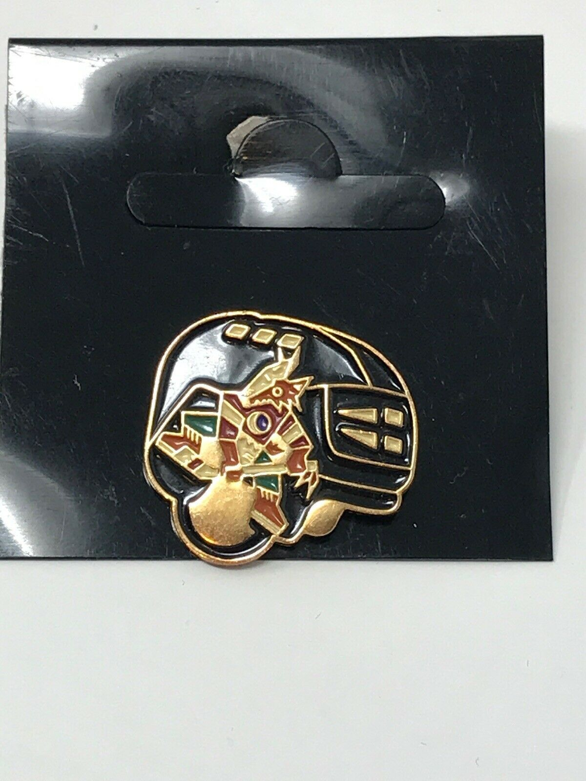 NHL Phoenix Arizona Coyotes VTG Logo Pin Helmet Coyote New NOS image 3