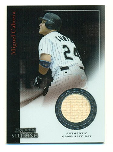2006 Bowman Sterling Miguel Cabrera Authentic Game Used Bat #BS-MC - Baseball Ca